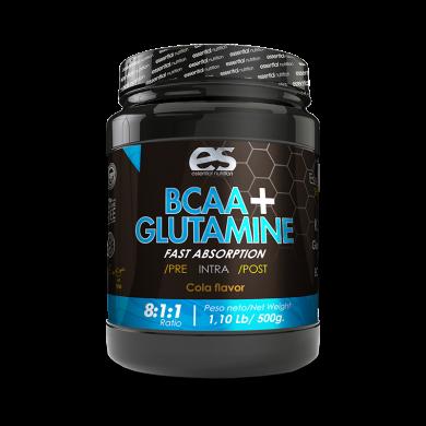 BCAA + GLUTAMINA ESSENTIAL 500 GRS